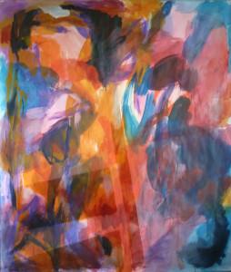 Fenster | 2015, Mischtechnik auf Papier | 165 x 140 cm