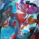 Landschaft fließt | 2014 | Acryl auf Leinwand | 100 x 120 cm
