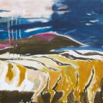 Schichten| 2013 | Acryl auf Leinwand | 80 x 100 cm