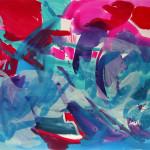 Stromaufwärts | 2014 | Acryl auf Leinwand | 120 x 100 cm
