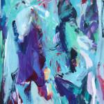 oT | 2014 | Acryl, Kreide auf Leinwand | 180 x 100 cm