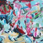 o.T. (Kamm) | 2014 | Acryl auf Leinwand | 100 x 120 cm