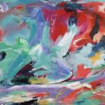 o.T. | 2014 | Acryl, Kreide auf Leinwand | 200 x 100 cm