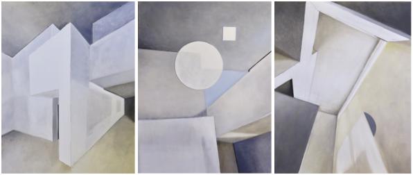 Beate Tischer . Pure Spaces or The Masters' Houses I Öl auf Leinwand . Öl auf Leinwand